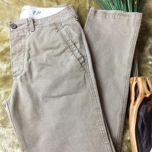 Abercrombie & Fitch Slim Fit Chino Pants Khaki 